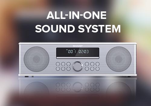 Sound system van SHARP